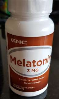 Wts GNC Melatonin 3 Mg.support restful sleep. Special price
