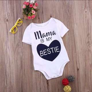 Cute Baby Letter Print Romper Suit
