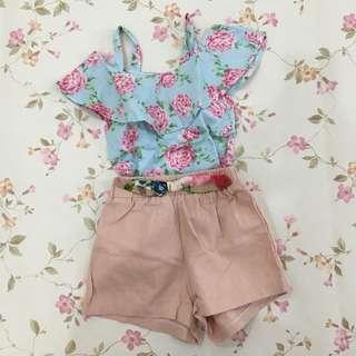 Preloved Floral Girl Set