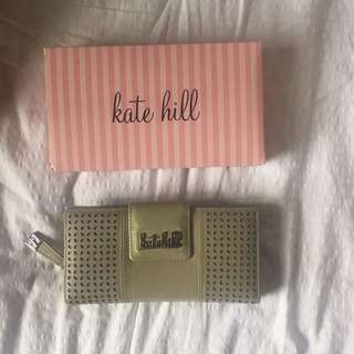 Kate hill leather green wallet