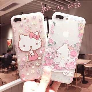 小清新hello kitty 手機殻(6/6s/6+/6s+/7/7+/8/8+/X)