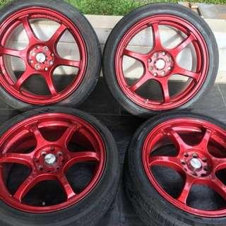 Dijual Velg Advan Racing rg2 Ring17 dan Ban Ventus v2 concept 205/45 R17