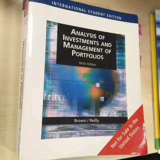 Analysis of investment and management of portfolio