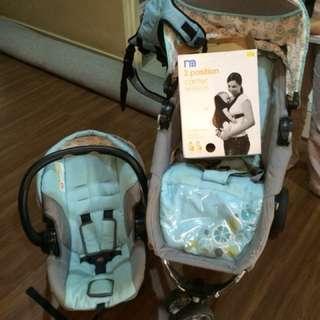Mamalove  stroller +  car seat