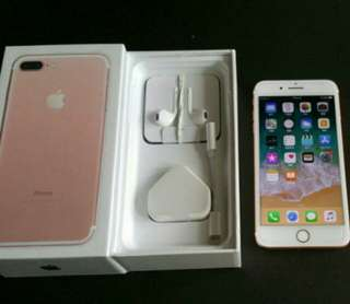 "99% rose gold colour iPhone 7 plus 128gb, Hong Kong zp version,  full set with box.  5.5"" original, like new, 100% working & good battery, full set new accessories, 7 days warranty.   5.5寸99% 新無花,港行zp, 100%全正常及電池良好"