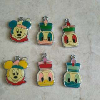 Mickey mouse and Donald Duck - DIY Accessories - Hook Pendants
