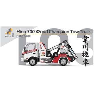 [預訂] TINY 微影 1:76 Hino300 韋川拖車 原價 $89 預訂優惠 $80