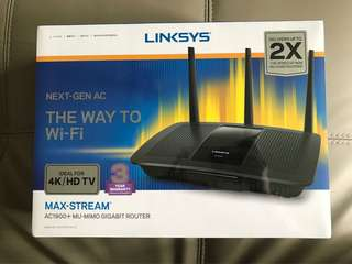 Linksys max stream AC 1900 brand new…