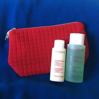 NEW Clarins Cleansing Milk and Toning Lotion Combination/Oily skin