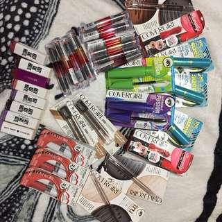 Lipstick, Mascara, Eyeliner