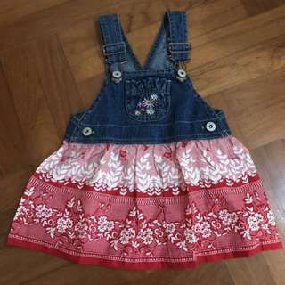 Baby Pinafore Denim Dress