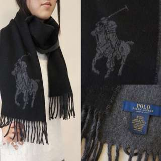 全新Polo Ralph Lauren BIG PONY - Scarf 大馬羊毛頸巾