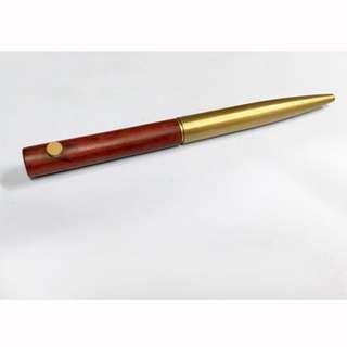 紅花梨木紅銅筆