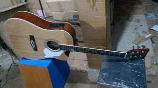 Gitar acccuatik elekteik new jumbo