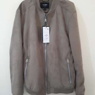 Jaket pull and bear suede