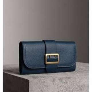 Burberry Halton Wallet Long Purse in Carbon Blue