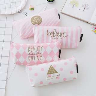 Pastel Pencil Make up Pouch Case