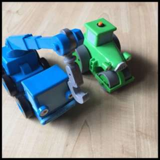 Pre-loved bob the builder vehicles x 2