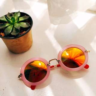 Forever 21 Pink Round Sunglasses