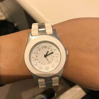 MARC JACOBS White Rubber and Stainless Steel Watch