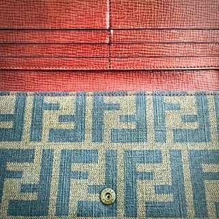 Fendi Monogram Long Wallet Authentic