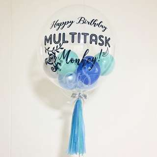 24-inch Personalised Bubble Balloons/ Birthday