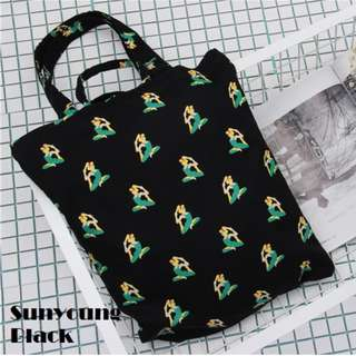Sunyoung Print Canvas Tote Bag