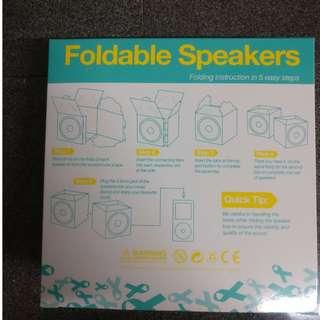 Portable foldable speaker