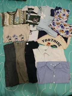 $180 all 14件 約9-12個月 長袖恤衫上衣西褲布褲