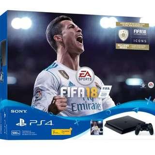 PS4 Slim Playstation 4 FIFA 18 Bundle