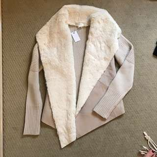 Knitted And Fur Coat