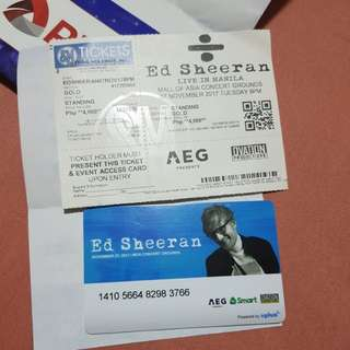 Ed Sheeran Ticket Gold Seating