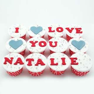 Homemade Delicious I LOVE YOU Cupcake !!