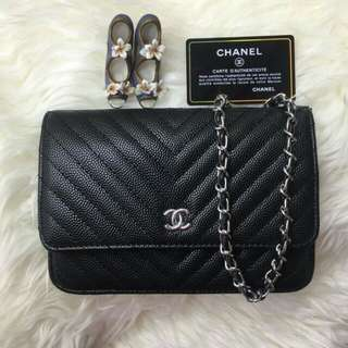 Chanel WOC Chevron