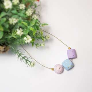 DIY polymer minimalist necklace