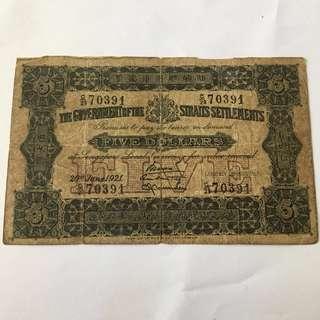 Singapore $5
