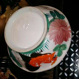 Chinese Vintage Handpainted chicken Bowl