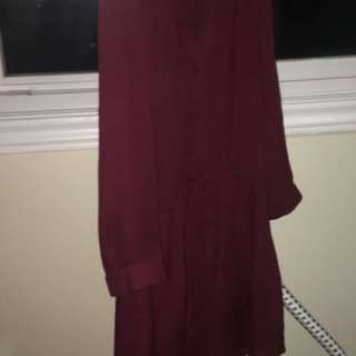 ARIZTIA DRESS - MAROON SIZE XS