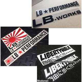 LB PERFORMANCE LB-WORKS 裝飾貼 汽車 摩托車 個性反光貼紙 耐熱防水 反光貼 貼紙 車貼