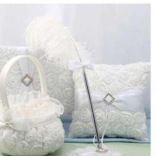 Ostrich feather Wedding signing pen