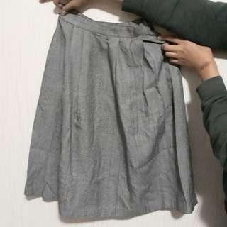 Rok vintage formal skirt monochrome
