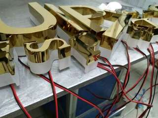 ⚠️It'sASign Customized Anodized Gold Backlit signage