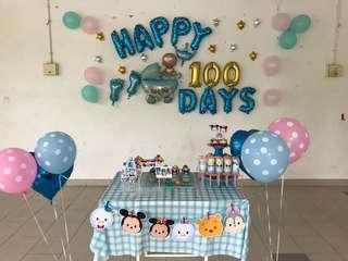 Baby boy 100 days decoration