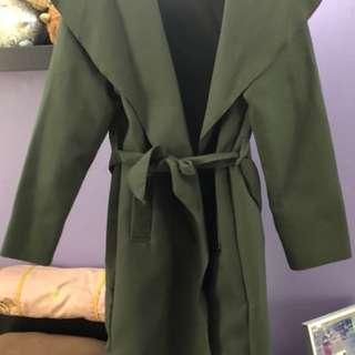 Pretty Little Thing Khaki Coat