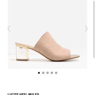Brand new charles and keith shoes mules heels