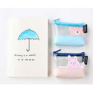 #801 harajuku cute transparent animals coin pouch