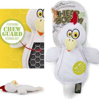 BN Hear Doggy Flatties with Chew Guard Technology Dog Toy, Chicken