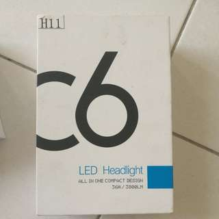 C6 LED headlight H11 socket