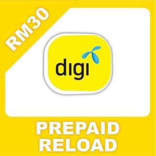Digi Prepaid RM30 Top Up Instant Reload