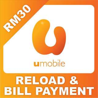 UMobile RM30 Prepaid Top Up Instant Reload
